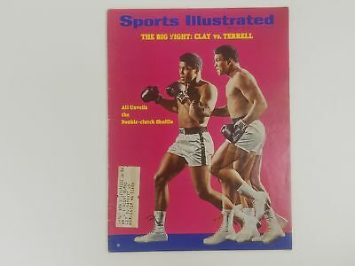 Sports Illustrated Magazine - Muhammad Ali Cover - Clay VS Terrell Feb 1967