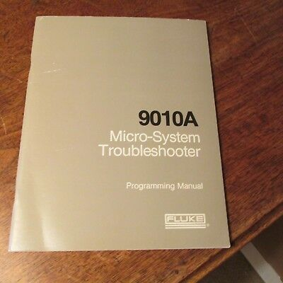 Fluke 9010A Micro-System Troubleshooter Original Programming Manual