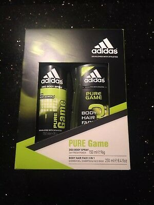 Adidas PURE Game Gift Set For Him Christmas Secret Santa Stocking Filler
