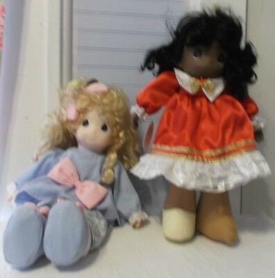 2 Used Precious Moments Dolls Maddy Ltd Edition Christmas Large Black Brandi