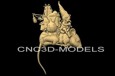 3D Model STL for CNC Router Engraver Carving Artcam Aspire Mouse Pano n318