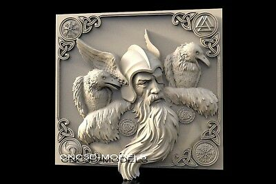 3D Model STL for CNC Router Engraver Carving Artcam Aspire Warrior Vikings f439