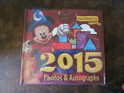 Walt Disney World Parks Mickey Mouse Autograph Book & Photo w/ Gel Pen 2015 NEW