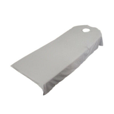 Gray Polyester Massage Table Sheets / Top Sheet /Flat Bed Sheet Couch Cover