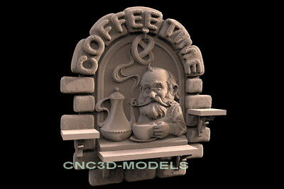 3D Model STL for CNC Router Engraver Carving Artcam Aspire Old Man Coffee f544