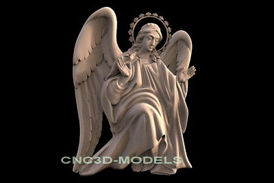 3D Model STL for CNC Router Engraver Carving Artcam Aspire Cherub Angel f556