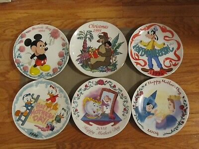 LOT Disney Grolier and Scholastic Mother's Day Plates and Christmas Plate