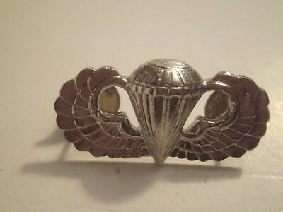 Army Basic Airborne Paratrooper Wings Hat Pin