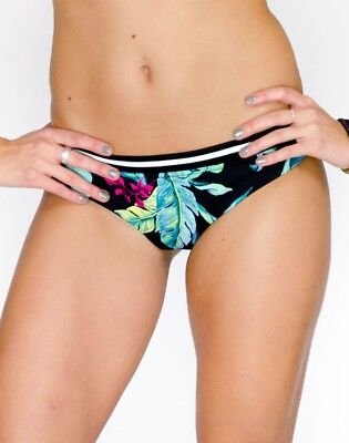 "Seafolly ""Jungle Out There"" Hipster Bikini Bottom (10) *NEW* black"