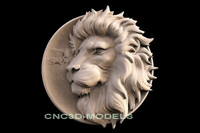 3D Model STL for CNC Router Engraver Carving Artcam Aspire Lion King f612