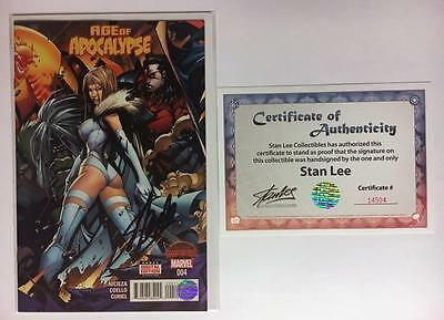 Age Of Apocalypse #4 Signed By Stan Lee Marvel 1St Print Variant Secret Wars Aoa