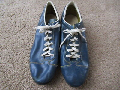 VINTAGE 50s Wilson Baseball Cleats Shoes Blue White Leather USA MENS SIZE11.5