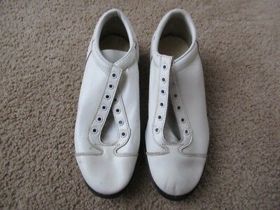 VINTAGE 50s 60s Wilson Football Cleats Baseball White Leather USA MENS 6.5