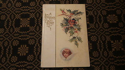 Antique Cupples & Leon CHRISTMAS TOKEN GIFT BOOKLET Hard Cover, Small