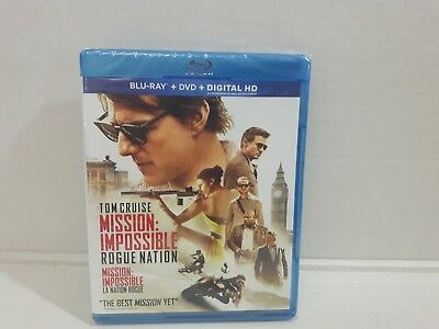Blu Ray Dvd Digital Hd Tom Cruise Mission Impossible Rogue Nation Sealed Nip New