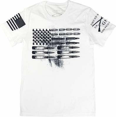 e6373204b94 AMMO FLAG T-SHIRT- Grunt Style Men s Graphic Military Tee Shirt Grey ...