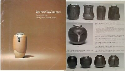Sotheby NY Dec 1980 catalog Important Japanese Tea Ceramics, 280 lots great info