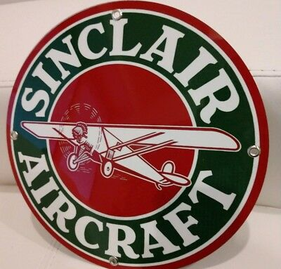 Sinclair Aircraft Gas company Oil gasoline sign ..FREE ship on 10 signs