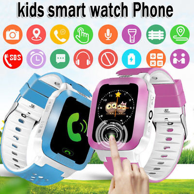Anti-lost Kid Safe GPS Trac-ker SOS Call GSM Smart Watch Phone For Android IOS