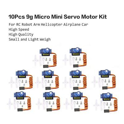 10X 9g Mini Getriebe Micro Servo Motor RC RobotHelicopter Flugzeug Helicopter V8