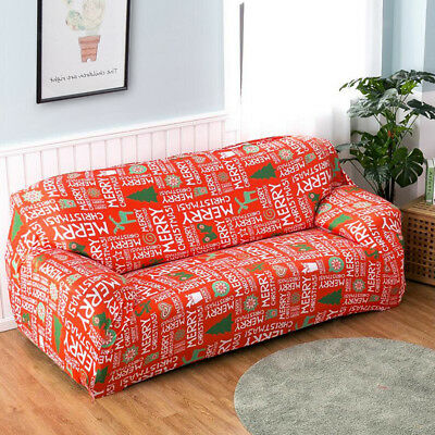 Christmas Decor Stretchy All-inclusive Sofa Cover Slipcover Water Repellent