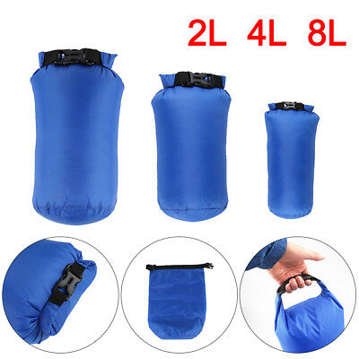 Pack of 3 Camping Dry Sacks Waterproof Weather Resistant Kayak Hiking Bag 2/4/8L
