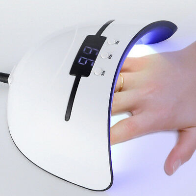 36W Pro Nail Polish Dryer Lamp LED UV Gel Acrylic Curing Light Manicure Timer