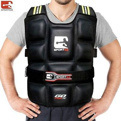 Pro Weighted Vest 6-20 kg Gym Running Fitness Training Weight Loss Jacket Unisex