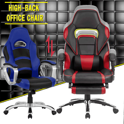 Executive Gaming Racing Office Chair Computer Work PU Leather Seat Work Race AUS