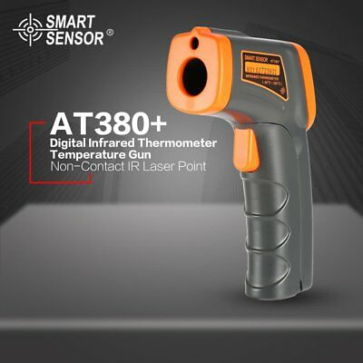 AT380+ Digital Infrared Temperature Gun Thermometer Non-Contact IR Laser PointZW