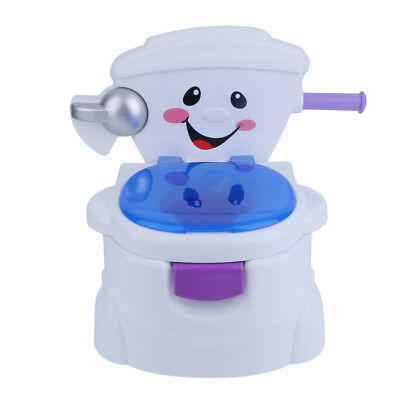 Baby Kids Children Toddler Potty Toilet Trainer Training Musical 2 in 1 Seat UK
