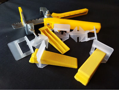 100 PCS Spacer 1.5mm Leveling System Clips/Wedges Tiling Flooring Wall Splier