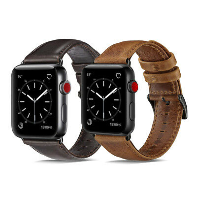 40/44mm Genuine Leather iWatch Band Strap Bracelet fr Apple Watch Series 4 3 2 1