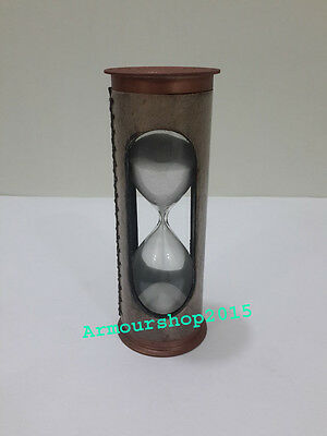 Beautiful Antique Leather Solid Sand Timer Vintage Collectible item
