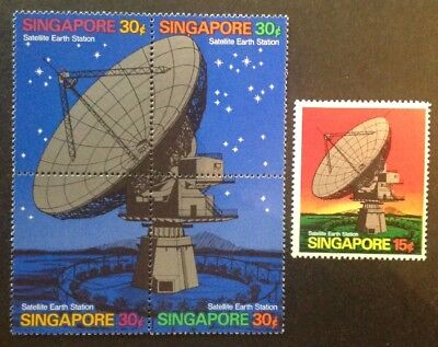 Singapore 1971 Opening Of Satellite Earth Station Set Mint Mnh