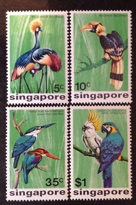 Singapore 1975 Birds Set Of 4 Mint Mnh