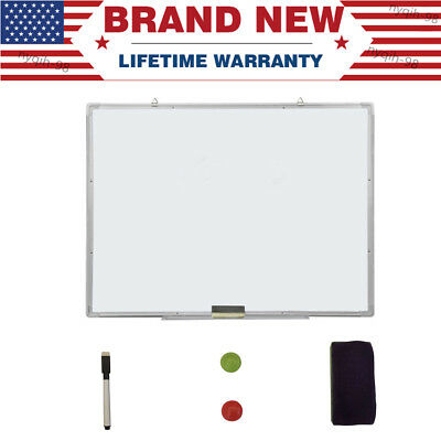 Magnetic Whiteboard Kit Office School Home Dry Erase Writing White Board 23x35""