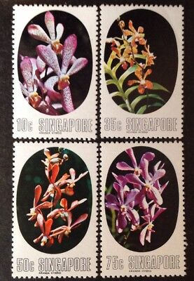 Singapore 1976 Orchids Set Of 4 Mint Mnh