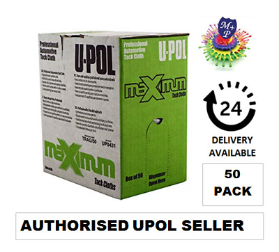 U-Pol Tack Cloth Pack 10 x2 Rags Sticky Rag Paint Body Shop Wipe Boxed TRAG Upol