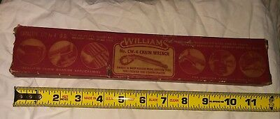 Williams Chain Pipe Wrench CW-4 with Williams Scroll Logo MADE IN USA