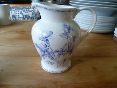 Royal Horticultural Society Queens 'The Garden' fine china jug.