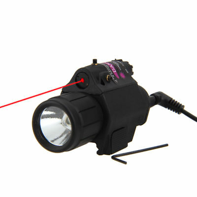 Tactical 2 in 1 Combo Red Dot Laser Sight CREE LED Flashlight 20mm For Pistol