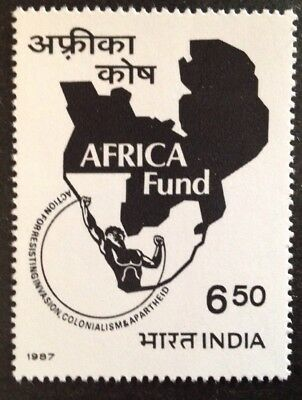 India 1987 Inauguration Of Africa Fund Stamp Mint Mnh