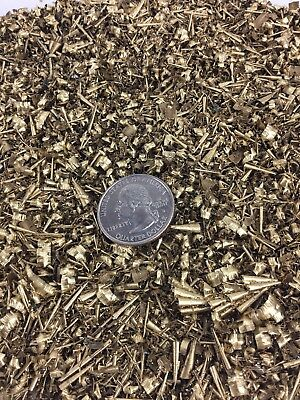 15 LBS Brass Shavings Filings Turnings Shredded Chips Science Orgone