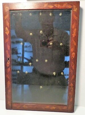 Antique Shadow Box Inlayed Shell Display