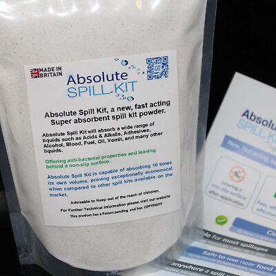 Absolute Spill Kit New Fast Acting Super Absorbent Spills Leaks Blood Oil Fuel