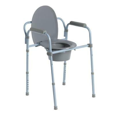 Drive Medical Folding Steel Commode RTL11158KDR**Free Shipping**Brand New Boxed*