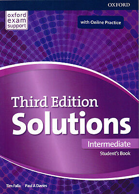 Oxford SOLUTIONS Third Edition 2017 Intermediate Student Book w Online Practice