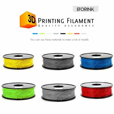 3D Drucker Filament PLA Printer Rolle 1,75mm 1kg + Spule Trommel für RepRap TOP
