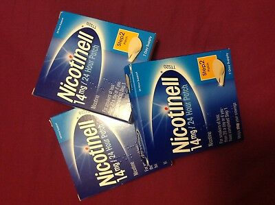 Nicotinell patches 14mg -  3 boxes (21 patches) expire 2020